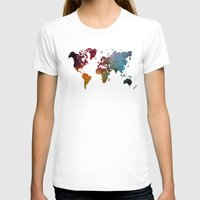 map of the world T-shirts featuring World Map by jbjart