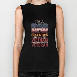 Vietnam Grandpa Veteran American Flag Apparel Fathers Day Gift Biker Tank