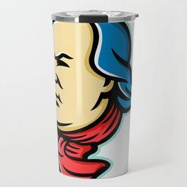 Benjamin Franklin Mascot Travel Mug