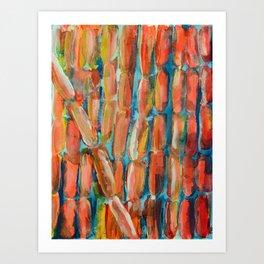 Coral Night of Sugarcane Art Print