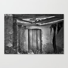 the forgotten secrets of the mountain house in ruins Canvas Print