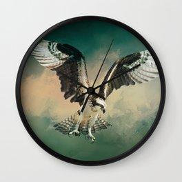 Osprey In Flight Wall Clock