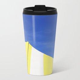Minimalist Blue Yellow White Circus Tent Abstract Travel Mug