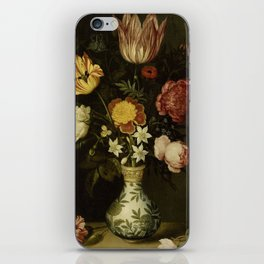 Ambrosius Bosschaert - Still life with flowers in a Wan-Li vase (1619) iPhone Skin