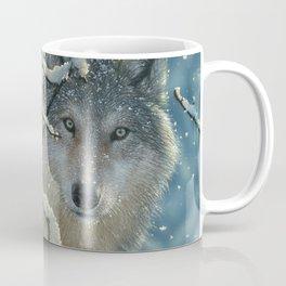 Wolf in Snow - Broken Silence Coffee Mug