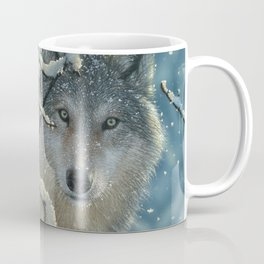 Wolf in Snow - Broken Silence Coffee Mug