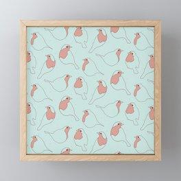 Robin's Egg in Blue Framed Mini Art Print