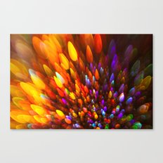 Champagne Sparkles and Color Bomb Burst Canvas Print