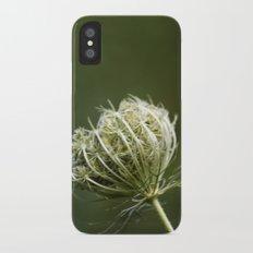 Closed Queen Anne's Lace iPhone X Slim Case