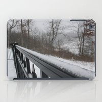 rileigh smirl iPad Cases featuring Snowy Rail by Rileigh Smirl