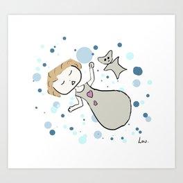 Baby Lou Art Print