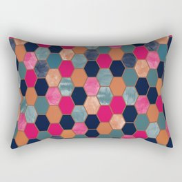 Colorful Honeycomb Rectangular Pillow