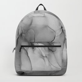 Black and White Marble Ink Abstract Painting Backpack