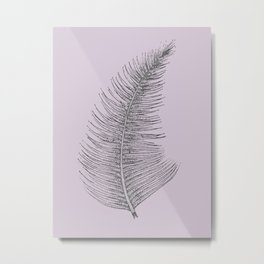 Chalky pink - feather Metal Print
