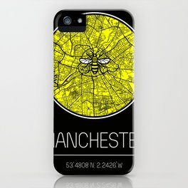 Manchester map iPhone Case