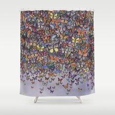 butterfly cascade Shower Curtain