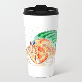 The Exploring Hermit Crab Metal Travel Mug