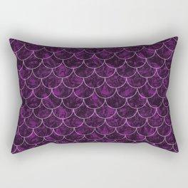 Purple Haze Mermaid Scales Rectangular Pillow