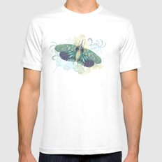 Hotinus Maculatus ~ Blue Version MEDIUM White Mens Fitted Tee