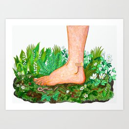 Nature Foot Art Print