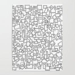 Graphic Geometric Black and White Minimalist Print Poster