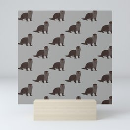 hey otter Mini Art Print