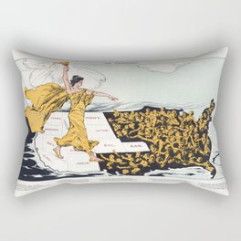The Awakening By Hy Mayer 1915 Women's Suffrage Rectangular Pillow