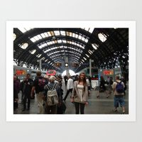 Train Station MI Art Print