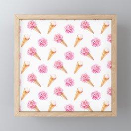 Floral Cones Framed Mini Art Print