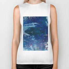 Cosmic fish, ocean, sea, under the water Biker Tank