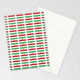 flag of iran 2- Persia, Iranian,persian, Tehran,Mashhad,Zoroaster. Stationery Cards