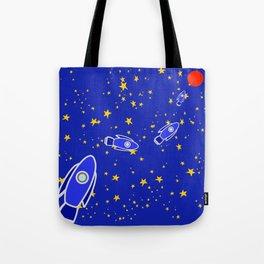 Rocketship to Mars Tote Bag