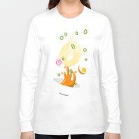 ramen Long Sleeve T-shirts featuring Ramen Bowl Print by ROMAA