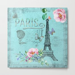 Paris - my blue love Metal Print
