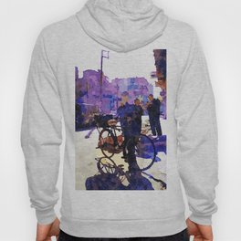 Boy with bicycle in Aleppo Hoody