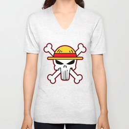 Straw Hat punisher Unisex V-Neck