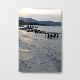 Floripa Sunset Metal Print