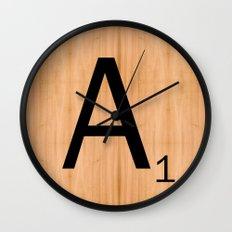 Scrabble Letter Tile - A Wall Clock