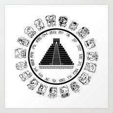 The Maya Calendar - Digital Work Art Print