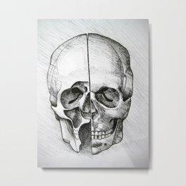 Divided Skull Metal Print