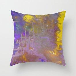 Blue & Yellow Throw Pillow