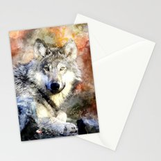 Wolf Animal Wild Nature-watercolor Illustration Stationery Cards