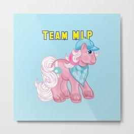 g1 my little pony Slugger Team MLP Metal Print