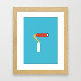 Paint brush Framed Art Print