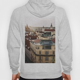 Prague Cityscape at sunset Hoody