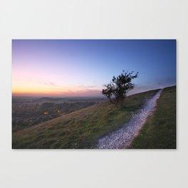 Chilterns Sunset Canvas Print