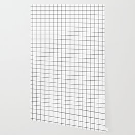 Black and White Thin Grid Graph Wallpaper