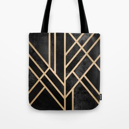 Art Deco Black Tote Bag