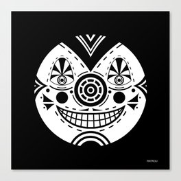 Priest Circle- black on black Canvas Print