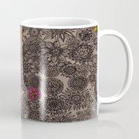 flower pattern Mugs featuring Flower Pattern by Aubree Eisenwinter